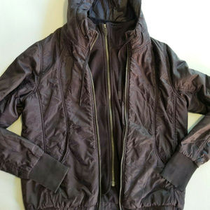 Lululemon Sz 8  Puffer Jacket Hooded Dark Purple